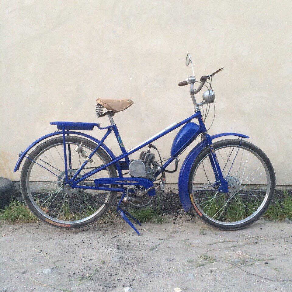ЛВЗ В-902 велосипед («крокодил») с мотором