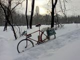 Снова выпал снег ))